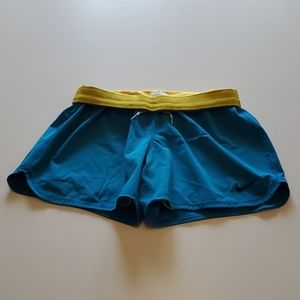 NIKE DRI-FIT Shorts Size S Blue and Yellow